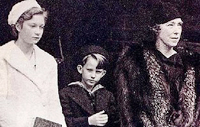 Princess Josephine-Charlotte, Prince Boudewijn, with Queen Mother Elisabeth
