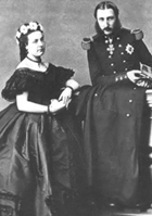 Queen Marie-Henriëtte and King Leopold II