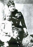 Princess Louise with her children