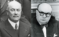 Foreign Affairs Minister Paul-Henri Spaak and Prime Minister Hubert