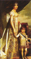 Hortense with her eldest son, Napoleon Charles